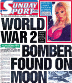 Bomber found on Moon